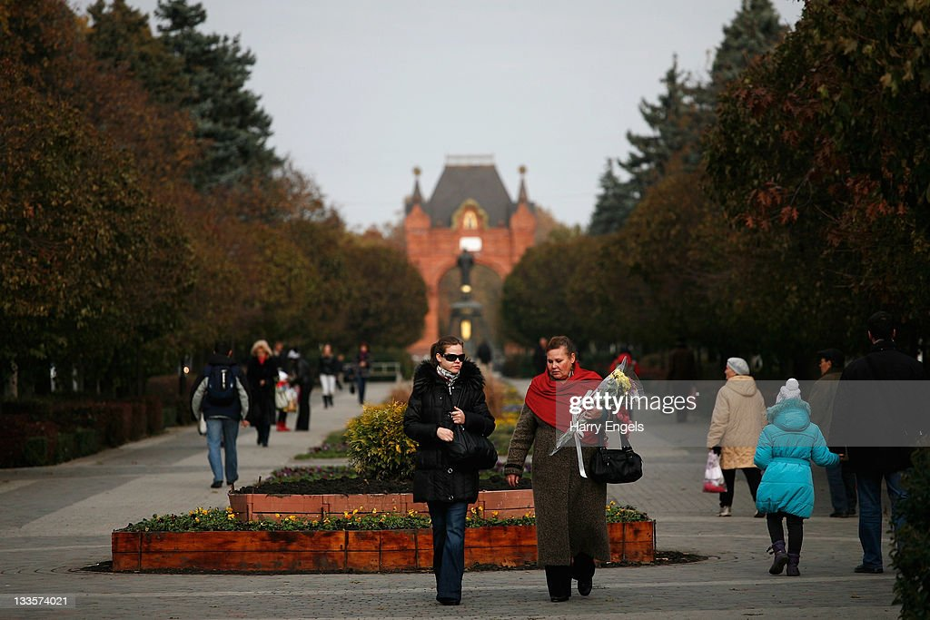 A general view of the central 'Krasnaya' street on November 19, 2011 in Krasnodar, Russia. Krasnodar is one of thirteen cities proposed as a host city as Russia prepares to host the 2018 FIFA World Cup.
