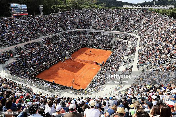 A general view of the Centre Court during the Rafa Nadal of Spain and Nick Kyrgios of Australia match during day five of The Internazionali BNL...