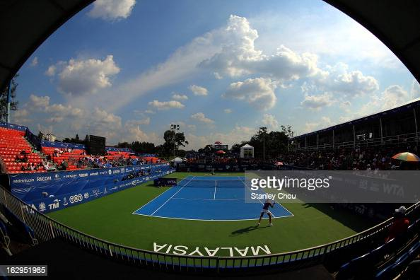General view of the Centre Court for the 2013 BMW Malaysian Open semifinals at the Royal Selangor Golf Club on March 2 2013 in Kuala Lumpur Malaysia