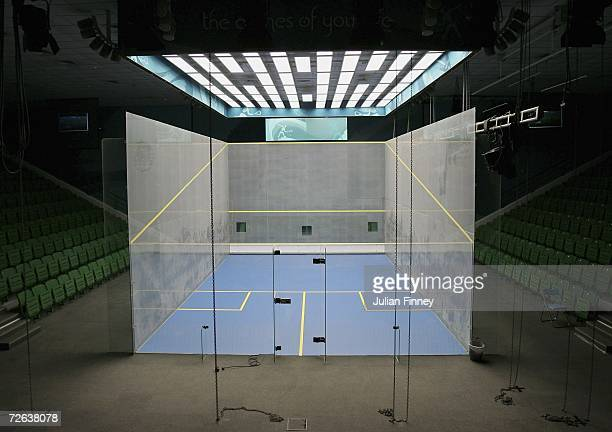 A general view of the Centre Court for the Squash competition is seen during the 15th Asian Games Doha 2006 Previews on November 24 2006 in Doha Qatar