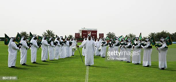 A general view of the ceremony during the 3rd Cartier Dubai Polo Challenge at Desert Palm Polo Ground on March 28 2008 in Dubai United Arab Emirates...