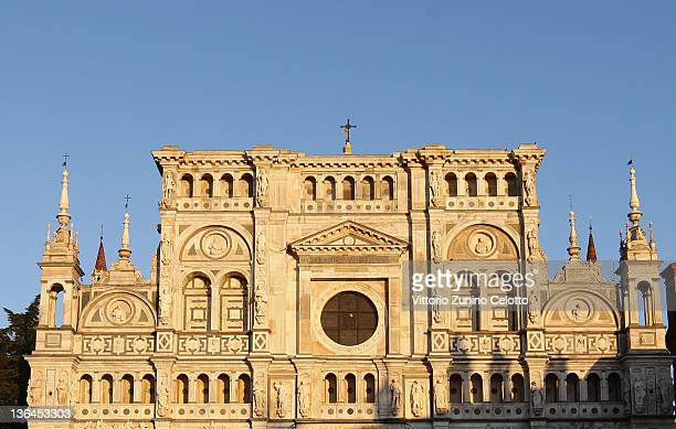 A general view of the Certosa of Pavia on January 5 2012 in Pavia Italy Pavia is a town of the Lombardy region northern Italy It´s the home of one of...
