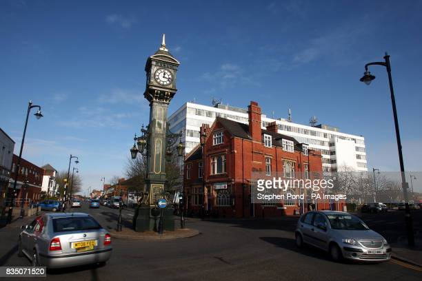 A general view of the Chamberlain Clock in the Jewellery Quarter Hockley Birmingham