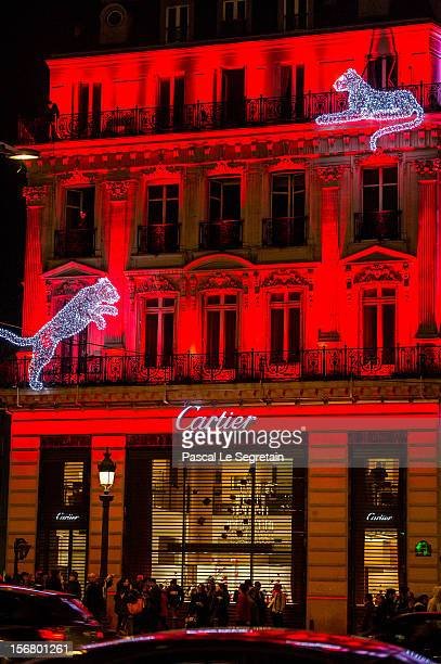 General view of the Champs Elysees Cartier boutique facade seen on November 21 2012 in Paris France