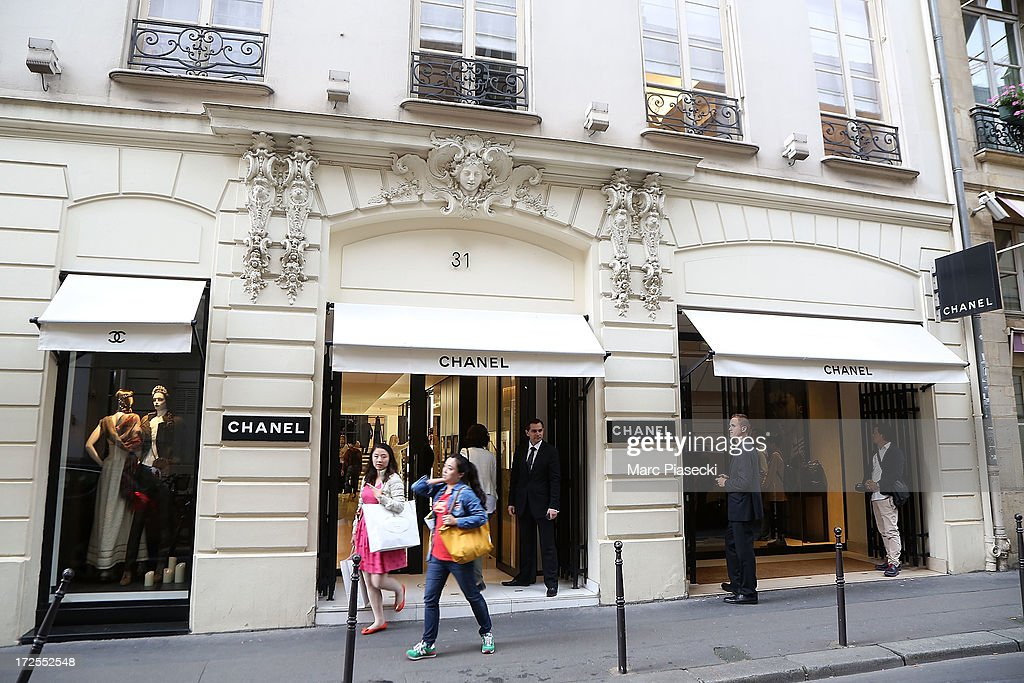 A general view of the 'CHANEL Cambon' store on July 3, 2013 in Paris, France.