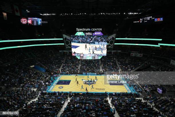 A general view of the Charlotte Hornets versus Atlanta Hawks during their game at Spectrum Center on October 20 2017 in Charlotte North Carolina NOTE...