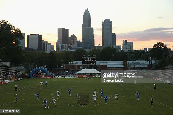 A general view of the Charlotte Hounds against the New York Lizards during their game at American Legion Memorial Stadium on May 30 2015 in Charlotte...