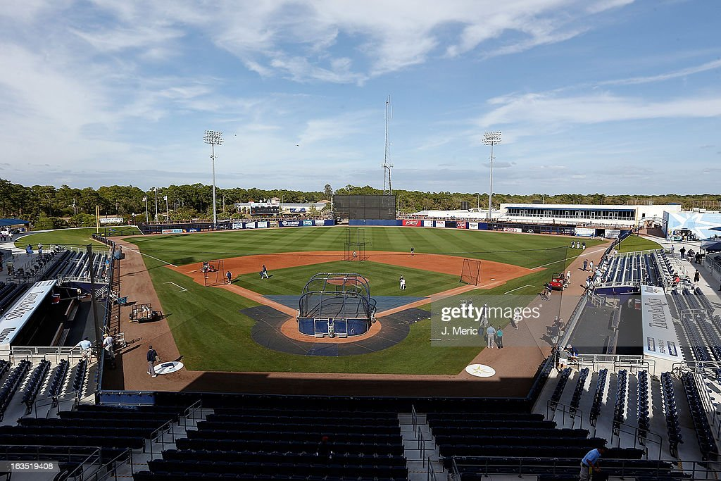 A general view of the Charlotte Sports Complex just before the start of a Grapefruit League spring training game between the Tampa Bay Rays and the Minnesota Twins on March 11, 2013 in Port Charlotte, Florida.