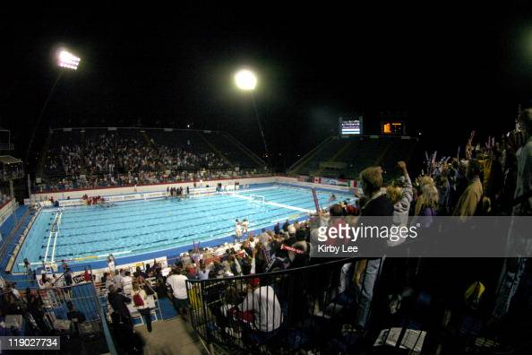 General view of the Charter AllDigital Aquatic Centre site of the 2004 FINA Men's and Women's Water Polo League Super Final and 2004 US Olympic...
