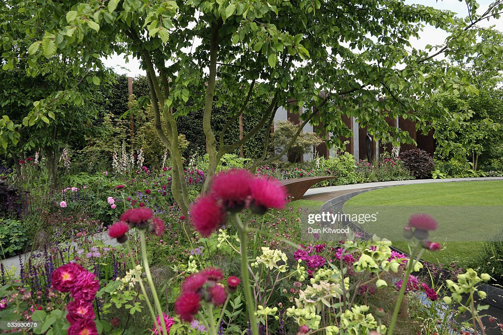 A general view of the Chelsea Barracks garden at the 2016 Chelsea Flower Show at Royal Hospital Chelsea on May 24, 2016 in London, England. The show, which has run annually since 1913 in the grounds of the Royal Hospital Chelsea, is open to the public from 24-28 May.