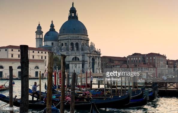 General View of the Chiesa di Santa Maria della Salute on September 9 2011 in Venice Italy
