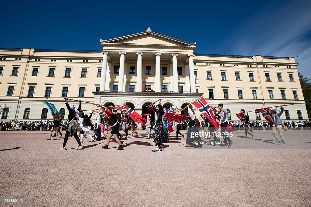 A general view of the Children's Parade during the Norwegian National Day on May 17, 2016 in Oslo, Norway.