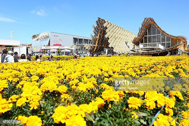 General view of the China pavilion during the Milano EXPO 2015 at Fiera Milano Rho on May 2 2015 in Milan Italy