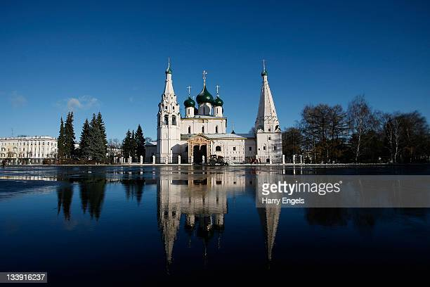 A general view of the Church of Elijah the Prophet on November 15 2011 in Yaroslavl Russia Yaroslavl is one of thirteen cities proposed as a host...