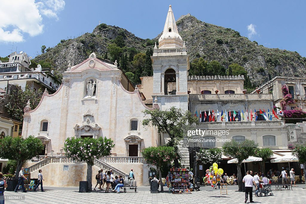 A general view of the church of San Giuseppe on June 11 2011 in Taormina Italy