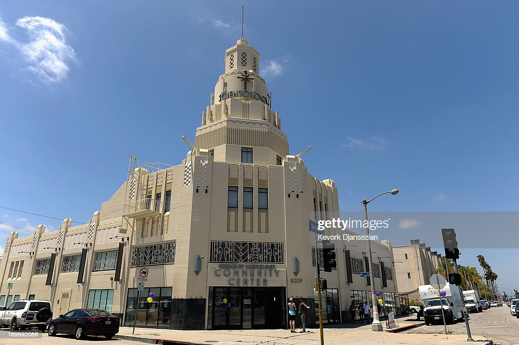 General view of the Church of Scientology community center in the neighborhood of South Los Angeles on June 5, 2013 in Los Angeles, California.