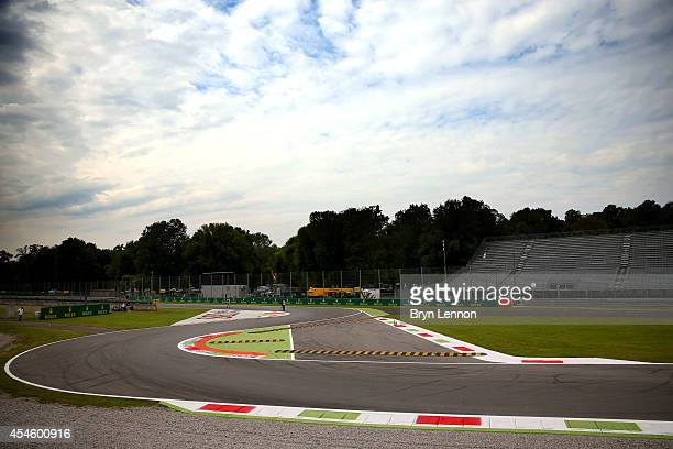 A general view of the circuit during Previews ahead of the F1 Grand Prix of Italy at Autodromo di Monza on September 4 2014 in Monza Italy