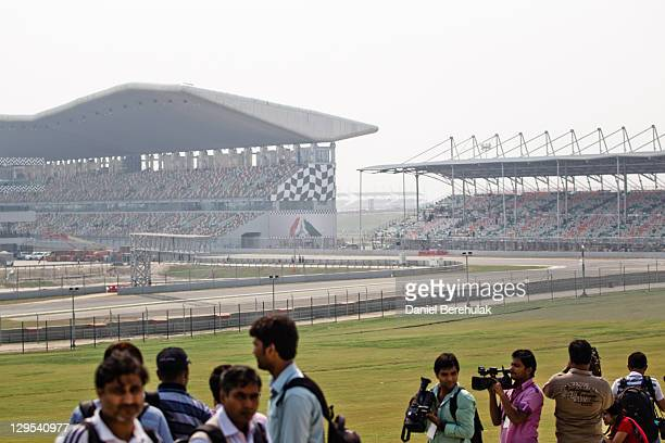 A general view of the circuit during the media preview of the Buddh International Circuit on October 18 2011 in Greater Noida India India's first F1...