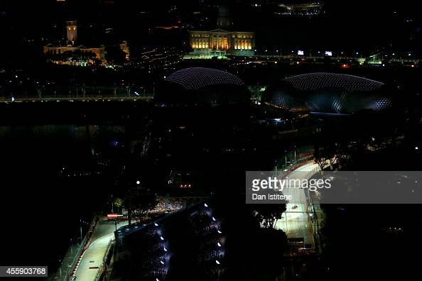 A general view of the circuit during the Singapore Formula One Grand Prix at Marina Bay Street Circuit on September 21 2014 in Singapore Singapore