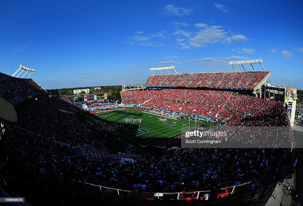 A general view of the Citrus Bowl stadium during the Capital One Bowl between the Nebraska Cornhuskers and the Georgia Bulldogs on January 1, 2013 in Orlando, Florida.