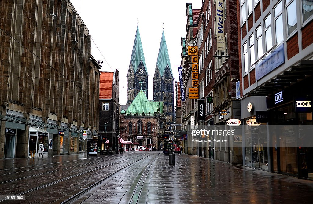 A general view of the city centre on March 1 2015 in Bremen Germany Bremen is on high alert after authorities yesterday reported they had concrete...