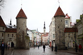 A general view of the city gates on March 3 2015 in Tallinn Estonia