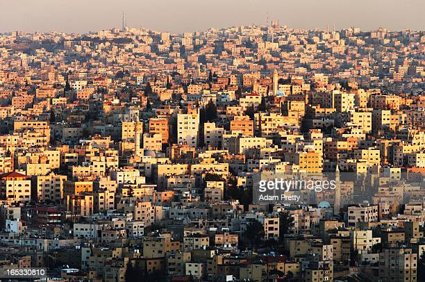 A general view of the city of Amman on March 26 2013 in Amman Jordan