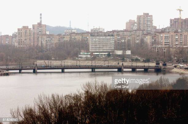 A general view of the city of Donetsk which is in the centre of the Russianspeaking eastern region on December 5 2004 in Donetsk Ukraine