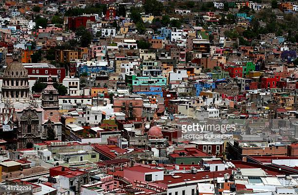 General view of the city of Guanuajuato Mexico on March 22 2012 Pope Benedict XVI will visit Mexico between March 23 and 26 on his first visit to the...