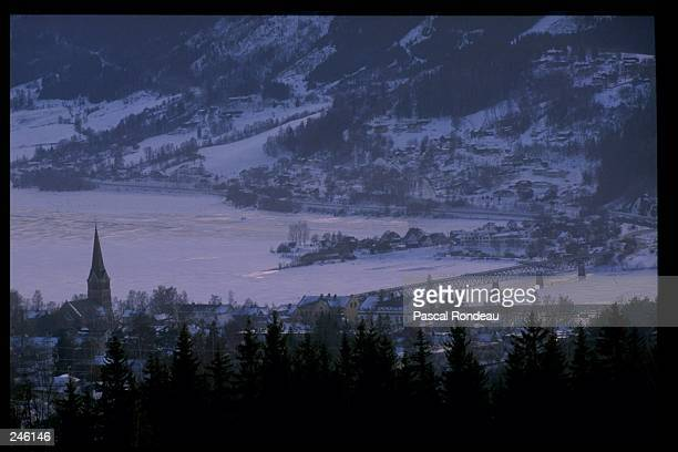 General view of the city of Lillehammer Norway which will be the site of the 1994 Winter Olympics