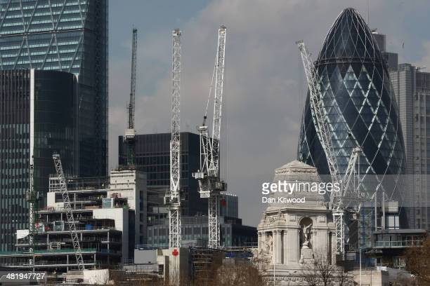 A general view of the City of London on April 1 2014 in London England Several high profile campaigners including Sir Anthony Gormley and Anish...