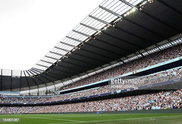 A general view of The City of Manchester stadium Manchester City's football stadium on September 10 2011 USE No use with unauthorized audio video...