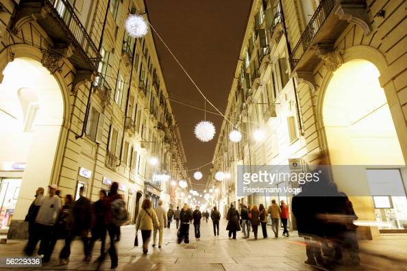 A general view of the city of Torino from the Via Giuseppe Garibaldi on November 15 2005 in Torino Italy Torino will be the host nation for the 2006...