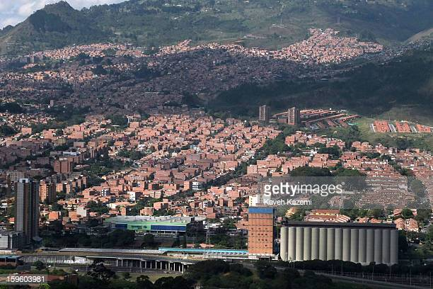 A general view of the city seen from a hill top on January 5 2013 in Medellin Colombia