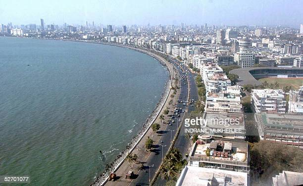 A general view of the city's major thoroughfare Marine Drive in Bombay 26 April 2005 Plans are afoot to develop Bombay the country's economic and...