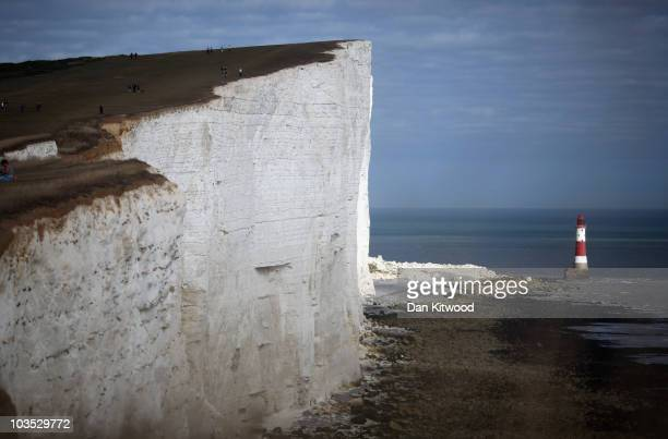 A general view of the cliffs at Beachy Head on August 21 2010 near Eastbourne England Beach and seaside breaks in the UK have become increasingly...