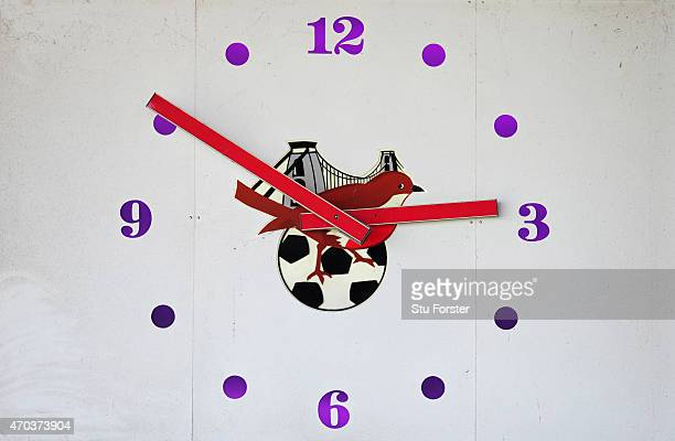 A general view of the clock at Ashton gate before the Sky Bet League One match between Bristol City and Coventry City at Ashton Gate on April 18 2015...