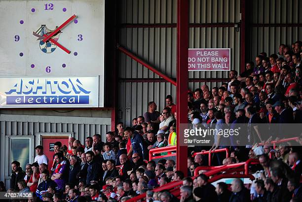 A general view of the clock at Ashton gate during the Sky Bet League One match between Bristol City and Coventry City at Ashton Gate on April 18 2015...