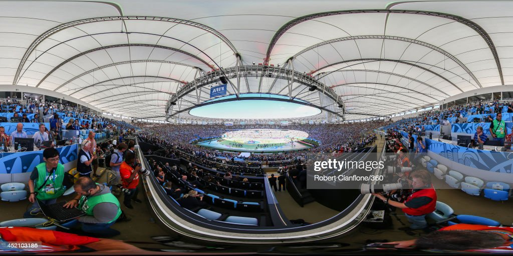 A general view of the Closing Ceremony before the 2014 FIFA World Cup Brazil final between Germany and Argentina at Maracana on July 13, 2014 in Rio de Janeiro, Brazil.