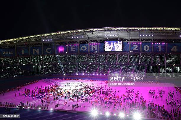 General view of the closing ceremony on day fifteen of the 2014 Asian Games at Incheon Asiad Main Stadium on October 4 2014 in Incheon South Korea