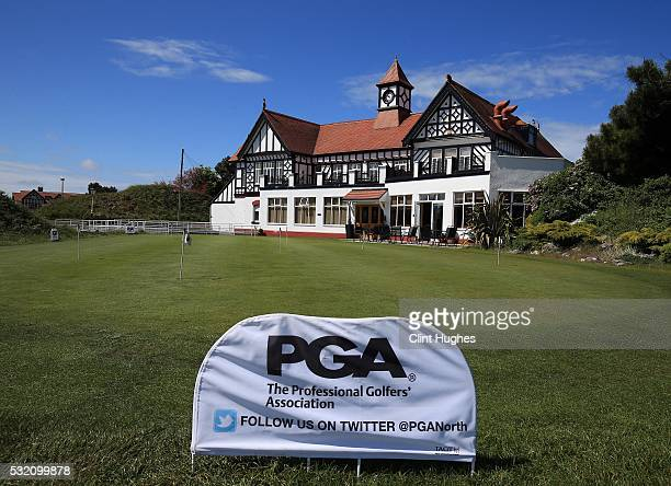 A general view of the club house at Hesketh Golf Club during the PGA Assistants Championship North Qualifier at Hesketh Golf Club on May 18 2016 in...