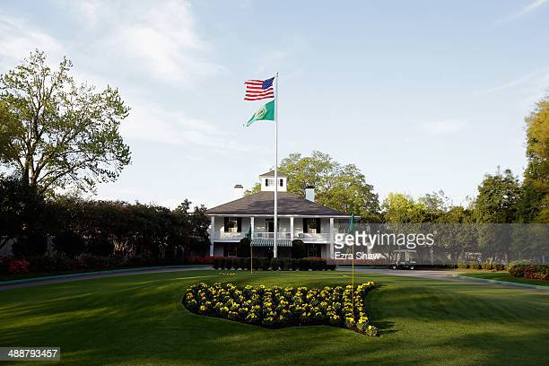 A general view of the club house prior to the start of the 2014 Masters Tournament at Augusta National Golf Club on April 9 2014 in Augusta Georgia