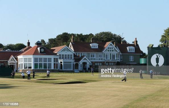 A general view of the clubhouse ahead of the 142nd Open Championship at Muirfield on July 17 2013 in Gullane Scotland