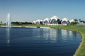 General view of the clubhouse at the Emirates Golf Club taken during a photocall held in Dubai United Arab Emirates