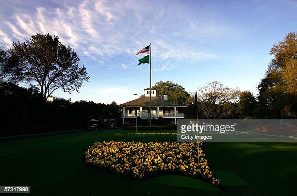 A general view of the clubhouse during practice for The Masters at the Augusta National Golf Club on April 5 2006 in Augusta Georgia