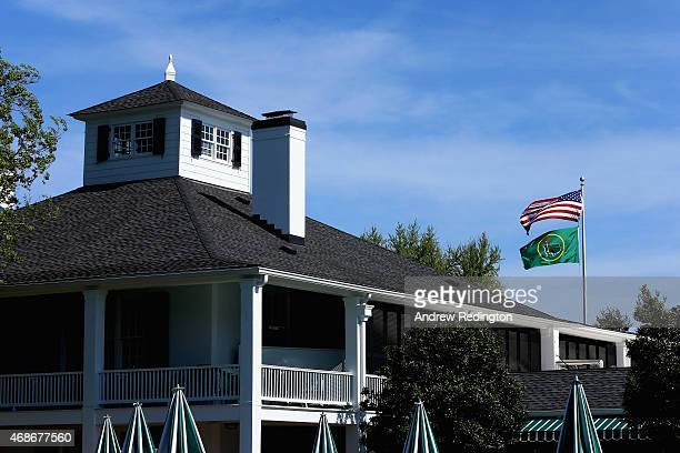 A general view of the clubhouse during the Drive Chip and Putt Championship at Augusta National Golf Club on April 5 2015 in Augusta Georgia