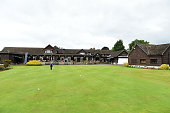 General view of the clubhouse during the The Lombard Trophy South Qualifier at Walton Heath Golf Club on July 8 2015 in Tadworth England