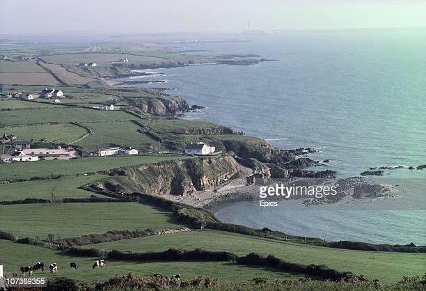 A general view of the coast along Church bay on the Isle of Anglesey Wales June 1983