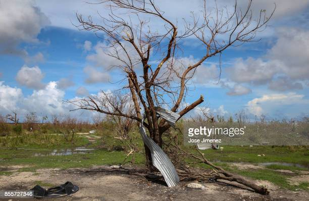 A general view of the Codrington lagoon September 22 2017 in Codrington Antigua and Barbuda Hurricane Irma inflicted catastrophic damages to the...