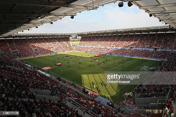 General view of the Coface Arena during the stadium opening at Coface Arena on July 3 2011 in Mainz Germany